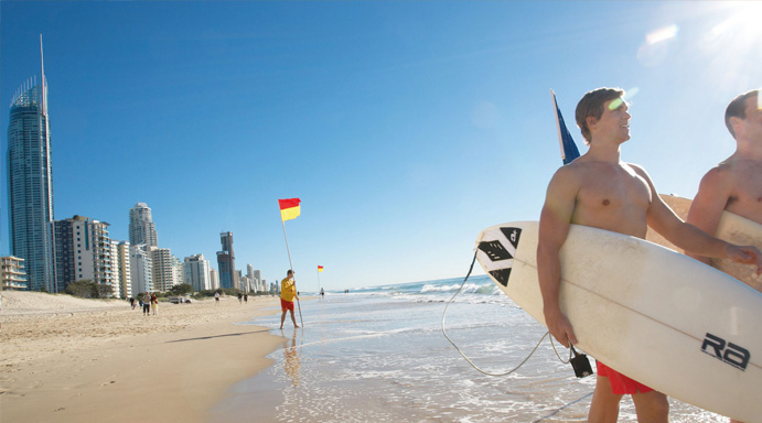 Agência de Intercâmbio Gold Coast- Surf
